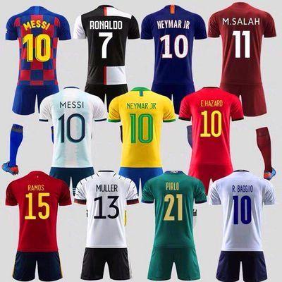 足球服套装男女儿童球服巴萨尤文皇马利物浦阿森纳曼城切尔西球衣