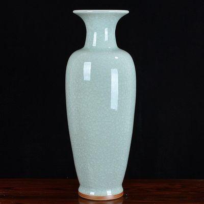 景德镇陶瓷大花瓶客厅落地仿古钧瓷家居装饰工艺品摆件摆设花瓶