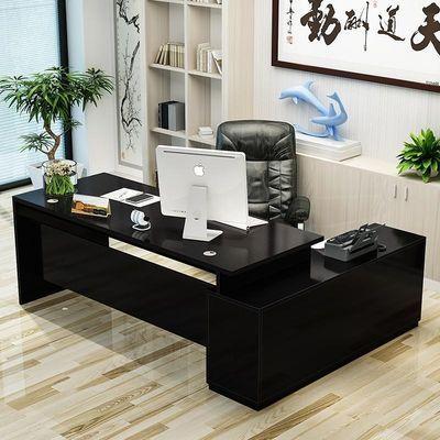 老板桌简约现代总裁时尚大气大班台经理办公室家具主管组合办公桌
