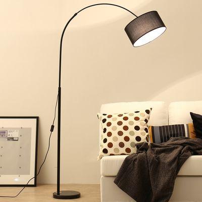 北欧宜家LED护眼立式钓鱼落地灯创意客厅书房卧室麻将羽毛台灯