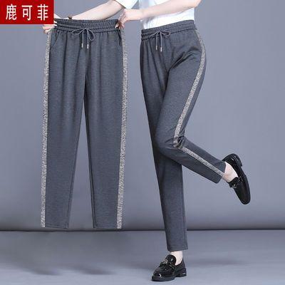 九分/七分 夏季裤子女宽松显瘦薄款运动裤女装休闲裤黑色哈伦裤
