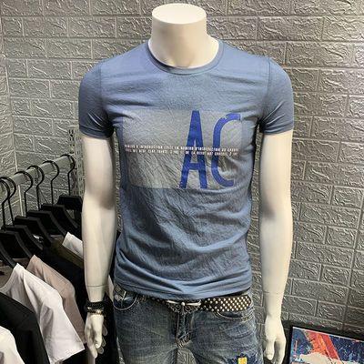 品质夏季男士短袖t恤打底衫上衣服修身潮流半袖透气圆领体恤男装
