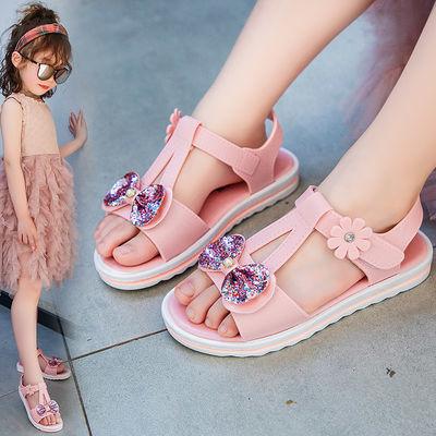儿童凉鞋女2020夏季新款时尚中大童沙滩鞋女童软底韩版小女孩童鞋