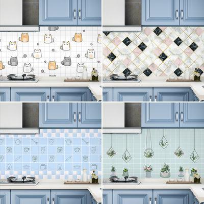 厨房防油贴纸耐高温防水自粘油烟机壁纸柜灶台用墙贴桌面翻新墙纸