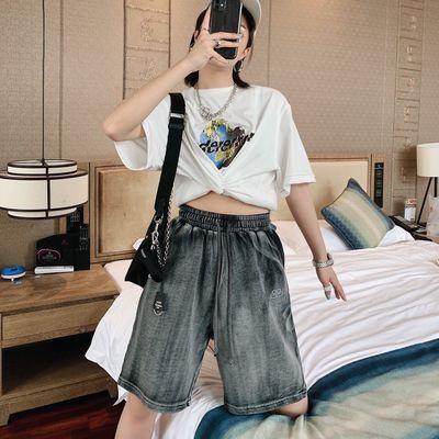 20ss夏季新品锁扣短裤男女字母刺绣重工艺水洗时尚休闲百搭五分裤