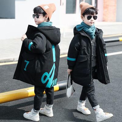 童装男童棉服加厚中长款中大儿童羽绒棉衣袄冬装2019新款洋气潮衣