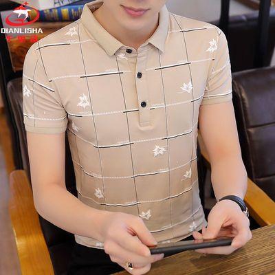 热销千里鲨95%棉夏季男士短袖POLO衫韩版时尚潮流半袖翻领T恤衫男