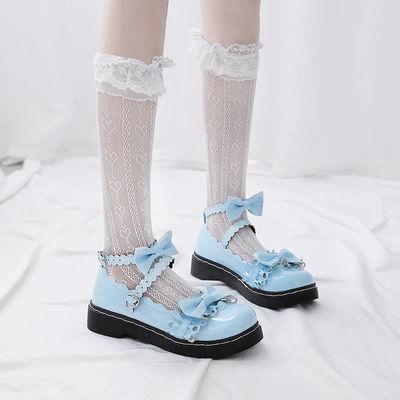 梅露露lolita鞋日系原创新款洛丽塔软妹jk小皮鞋女萝莉花边娃娃鞋