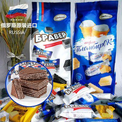 俄罗斯阿孔特巧克力威化饼干冰淇淋口味夹心零食宵夜奶酪芝士甜品