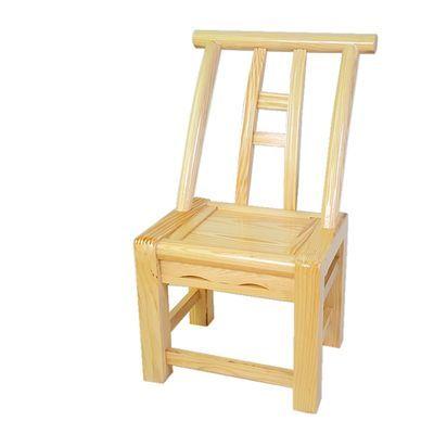 老式松木椅实木靠背椅儿童凳农家乐换鞋凳小椅子家用木质餐桌椅