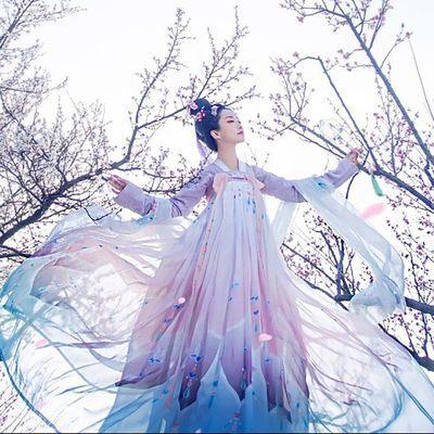 【限时300套】汉服女菩提雪古装服装仙女齐胸襦裙汉服唐制公主