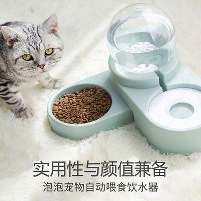 猫咪饮水机宠物饮水器自动喂食器猫碗双碗循环流水喝水机二合一体