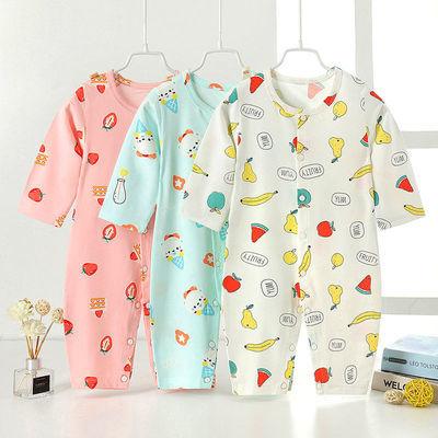 新生儿宝宝衣服男女1岁夏装0到3个月6睡衣婴儿连体衣夏季长袖薄款
