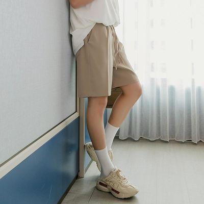 西西里男装夏季男士五分裤子男韩版潮流宽松百搭卡其色休闲短裤