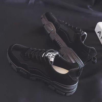 2020春季新款英伦风马丁靴男工装靴低帮潮鞋韩版百搭皮鞋休闲短靴