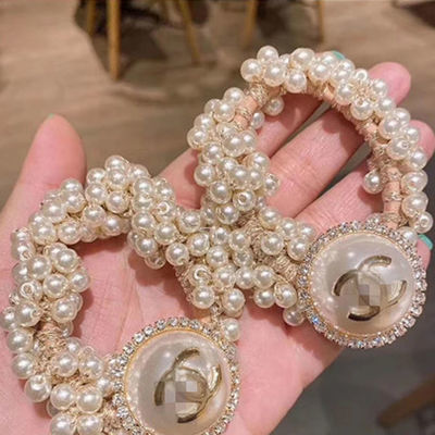 头绳女珍珠网红ins韩国东大门手链两用发绳发圈丸子头扎马尾皮筋