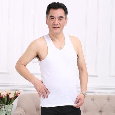 中老年纯棉背心男士汗衫跨栏吊带老人内衣爸爸装打底衫老头衫
