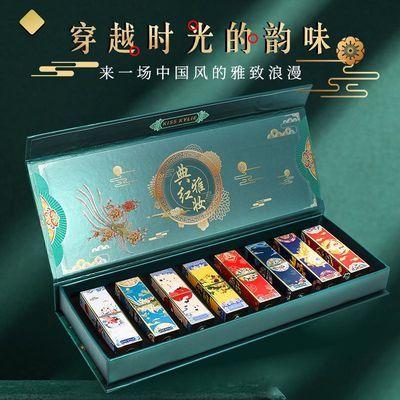 彩妆中国风雕花故宫口红套装复古高档礼品礼盒装古风唇膏套盒520