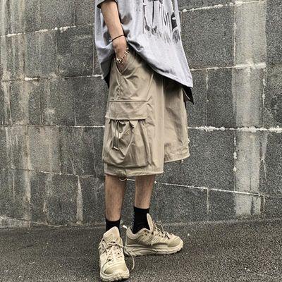 INSstudios.20ss夏季潮流ins暗黑高街立体贴袋工装裤休闲短裤男女