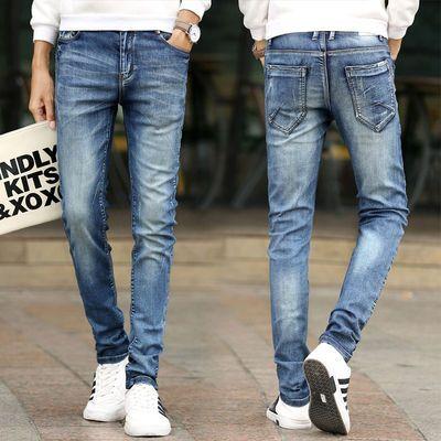 男装牛仔裤修身青少年牛仔裤男小脚弹力牛仔裤男式春夏新款式时尚