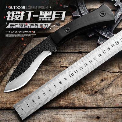 户外刀具随身刀防身武器求生刀野外小刀直刀锋利锻打狩猎刀高硬度