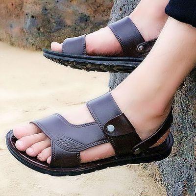 凉鞋男士软底夏季沙滩鞋男大码爸爸凉拖鞋男士夏天