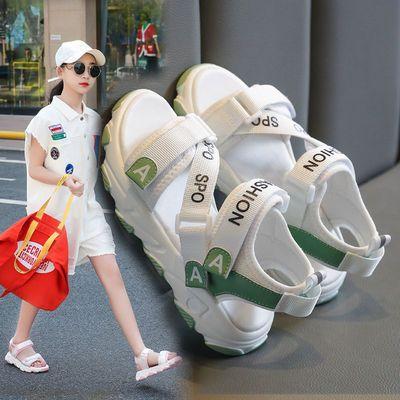 女童凉鞋2020年夏季新款中大童儿童时尚运动凉鞋学生软底女孩凉鞋