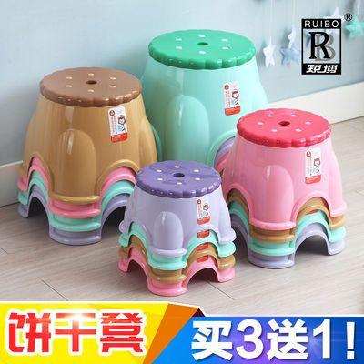 塑料小凳子家用矮凳儿童卡通换鞋凳北欧加厚防滑浴室餐桌矮饼干椅