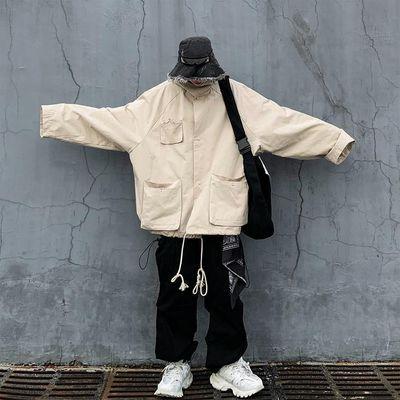 暗黑机能风女工装裤高腰嘻哈街头bf宽松直筒欧货潮牌束脚裤子潮