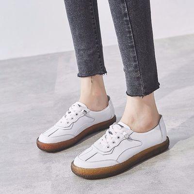 小白鞋女2020春夏季新款平底学生板鞋一脚蹬懒人鞋软底工作单鞋子