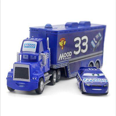 正版赛车汽车总动员3玩具车套装合金麦大叔货柜车组合2黑闪电麦昆