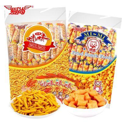 咪咪虾条蟹味粒成人款好吃的零食小吃休闲食品薯片大礼包整箱包装