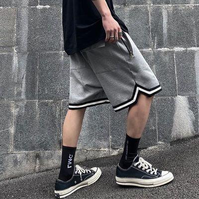 INSstudios.20ss潮流ins暗黑高街撞色拉链口袋运动休闲裤短裤男女