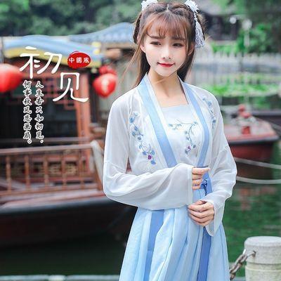 传统汉服女唐制刺绣高腰齐腰襦裙日常春夏装改良学生汉元素中国风