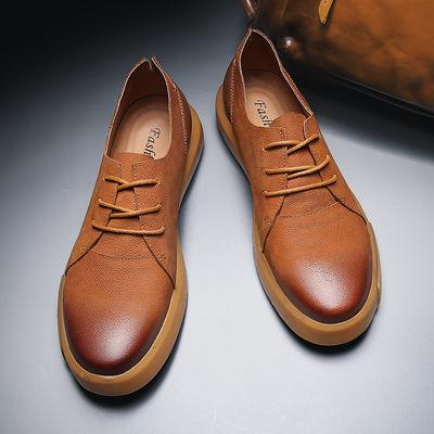 真皮男鞋休闲鞋马丁靴男士皮鞋真皮英伦风低帮爸爸鞋复古百搭韩版