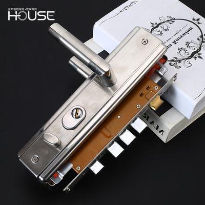 304不锈钢防盗门锁套装 通用型家用门锁大门锁具锁体把手C级锁芯
