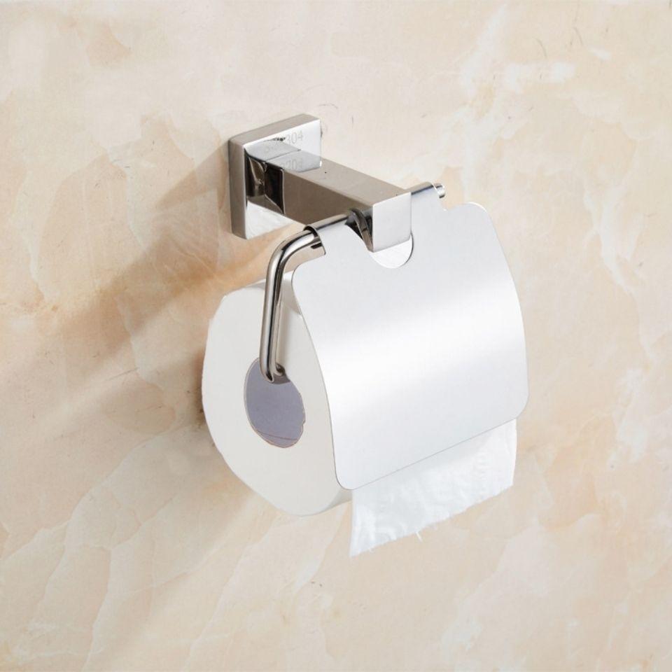不锈钢304纸巾片方形底座 卷纸片圆形座 工程款 酒店卫生间纸巾盒