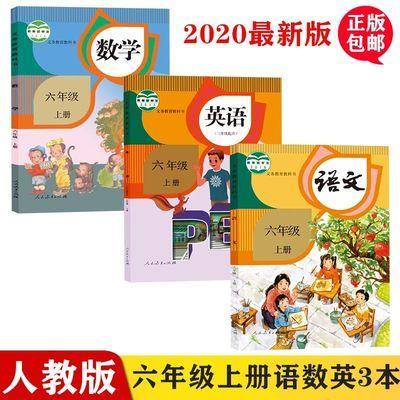 2020全新人教部编版小学六年级上册英语数学语文书课本教育教科书