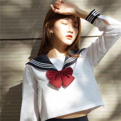 基础款jk制服套装正统原创正版水手服女jks白二本白三本短裙长裙
