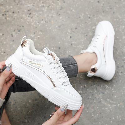 小白鞋女学生韩版百搭2020春季新款ins超火运动休闲鞋平底板鞋潮