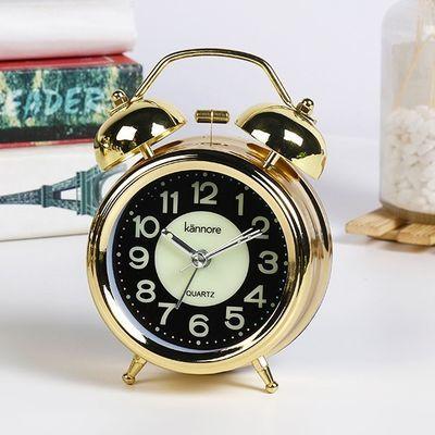新款凯诺闹钟夜光床头静音学生用创意简约卧室儿童电子多功能闹钟