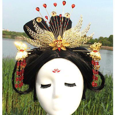 新娘头饰古装头饰中式民族饰品结婚礼服发饰秀禾服长流苏凤冠头饰