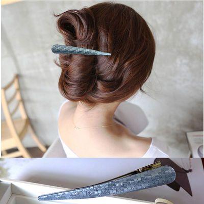 【多种颜色可选】韩国发饰大号鸭嘴夹盘发发夹牛角夹头饰品尖嘴夹