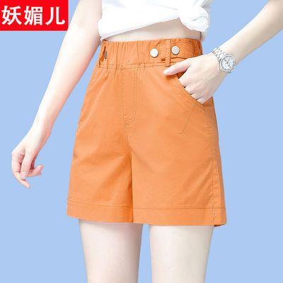 时尚高腰宽松阔腿短裤女装2020夏季新款西装裤休闲百搭外穿a字裤
