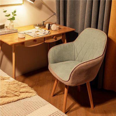 家用电脑椅简约学习书桌写字椅陪读椅卧室宿舍靠背椅北欧旋转木椅