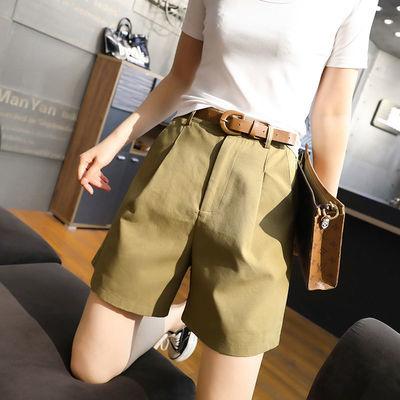 短裤女夏季宽松2020新款女装韩版时尚百搭高腰西装裤子女休闲裤潮