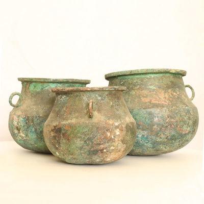 青铜锅具一套青铜器仿真摆件博物馆自制品复古摆件仿古工艺品礼品