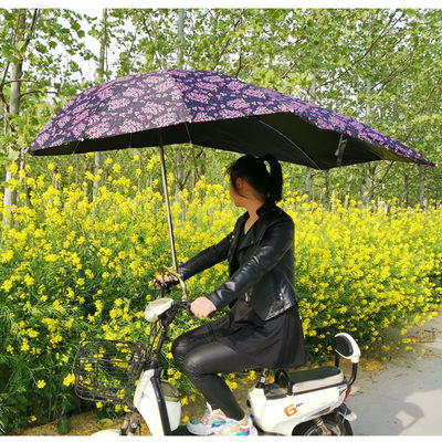 家用加长加厚电动车遮阳伞雨棚篷蓬电瓶踏板摩托三轮自行车黑胶防