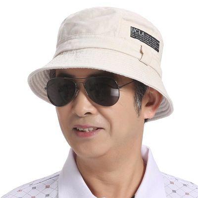 中老年渔夫帽夏季男士遮阳爸爸太阳帽中年男老人男帽春秋老头帽子
