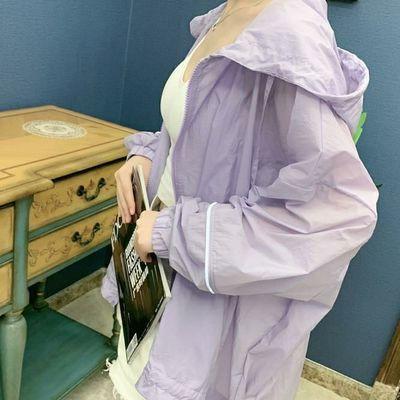 新款大码防晒衣女蝙蝠袖中长款防晒服女外套韩版宽松潮夏季防晒衫